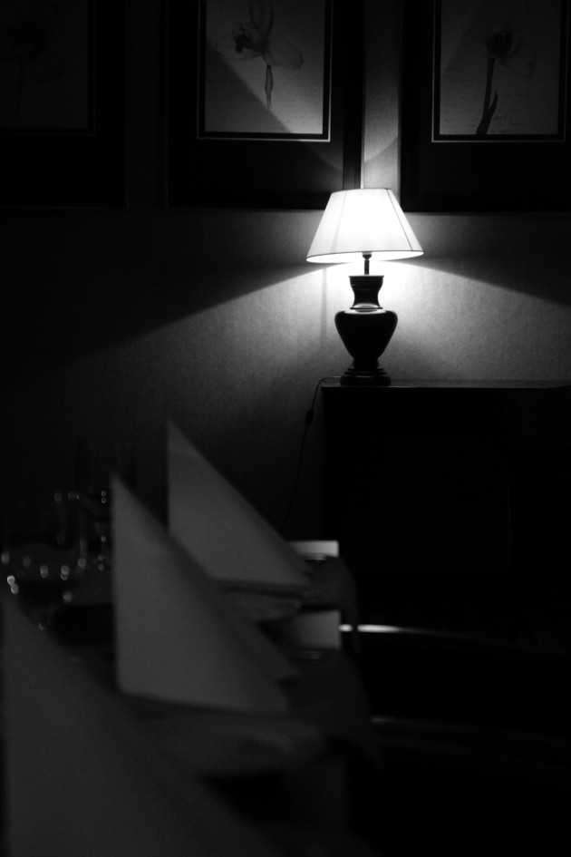 Night lamp, b&w